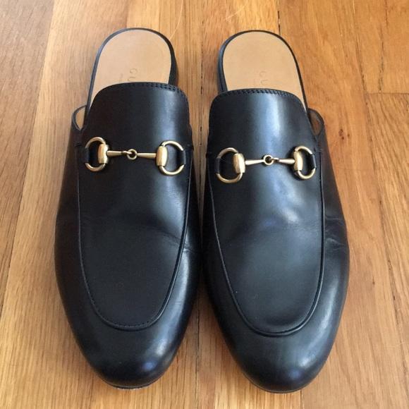 adb81cb39ff Gucci Shoes - Authentic black Gucci Princetown mules